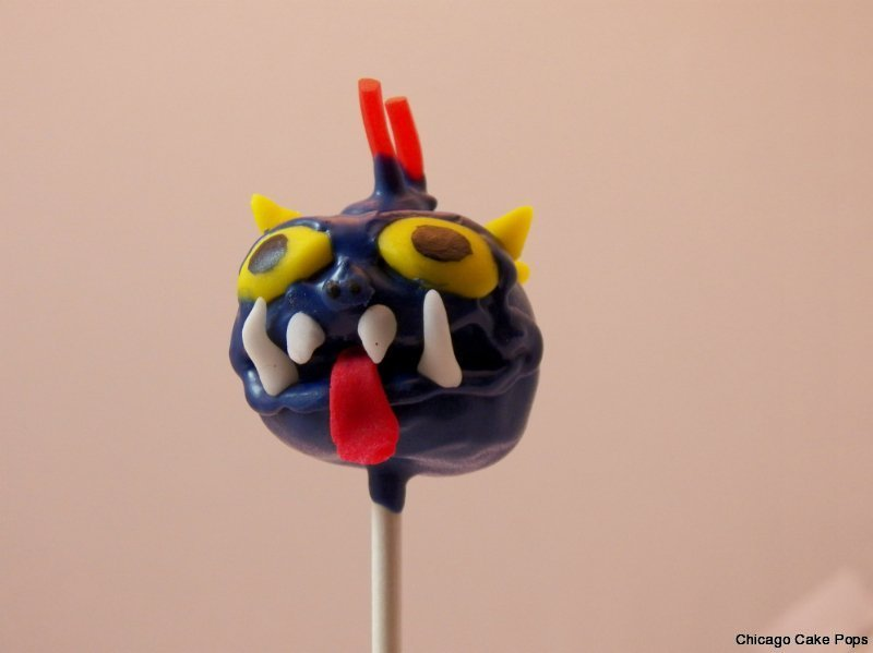 Skylanders Wrecking Ball cake pops