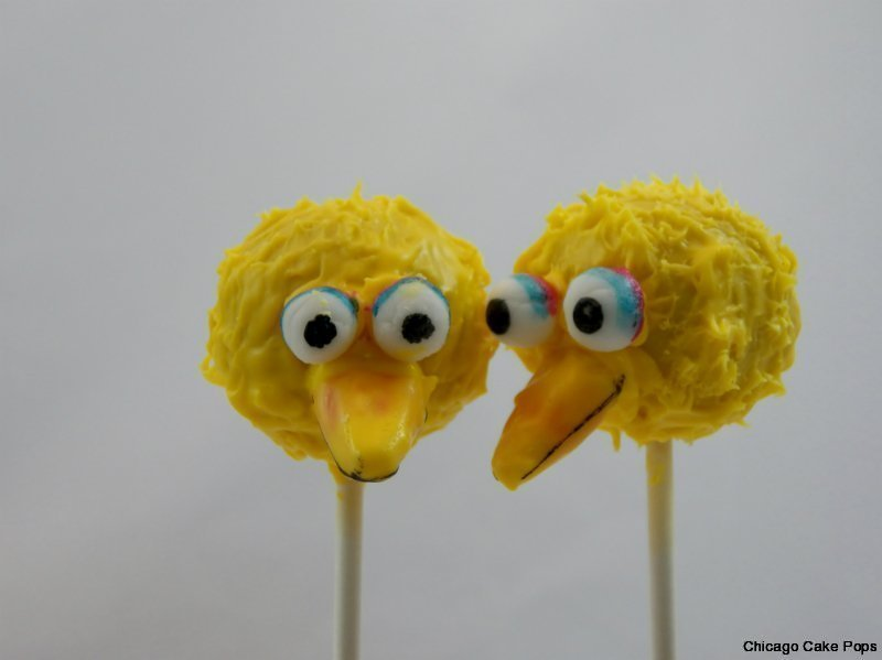 Big Bird Sesame Street Cake Pops