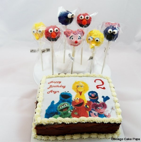 Sesame Street Cake Pops and Mini Cake