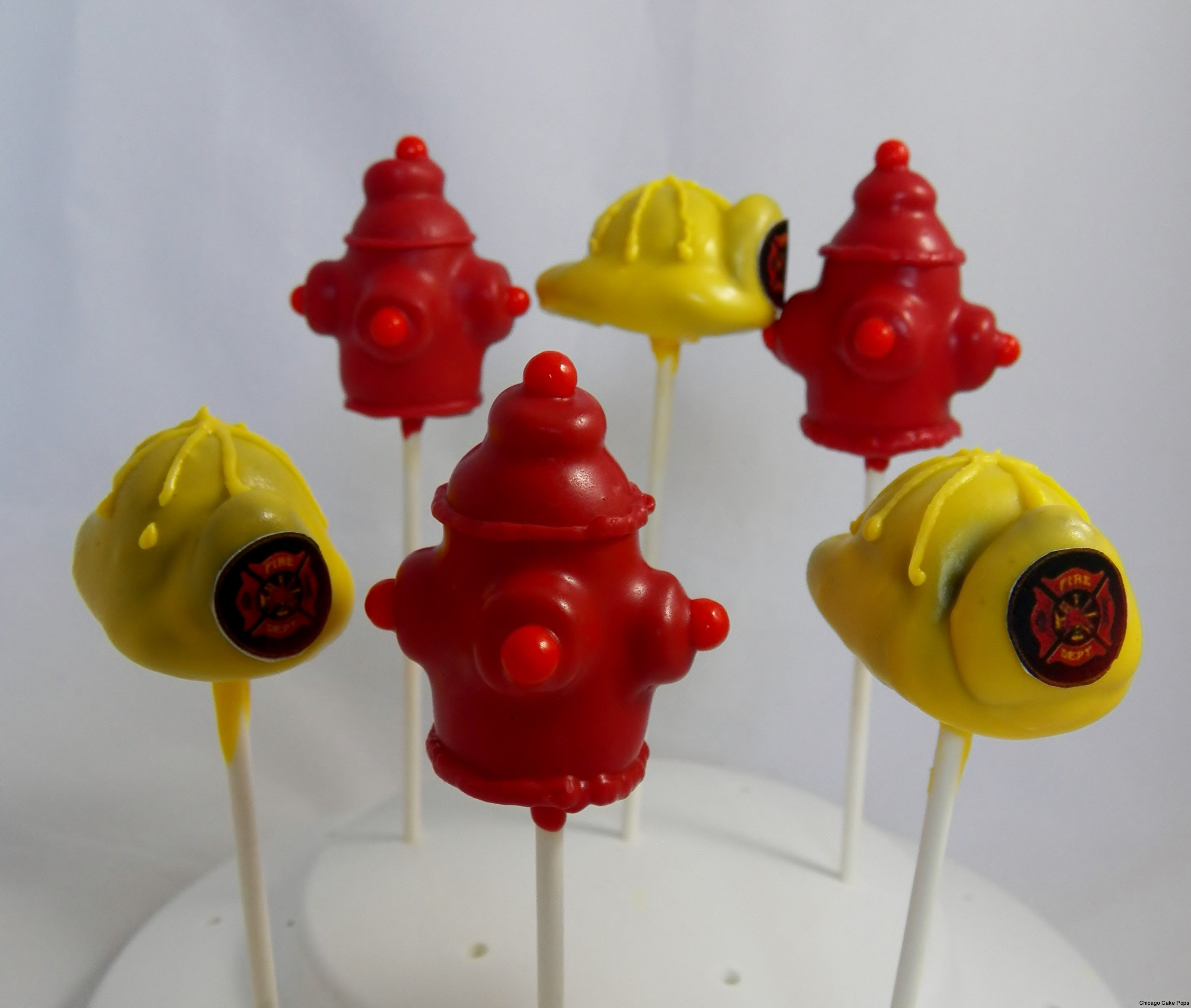 Fire department Cake Pops