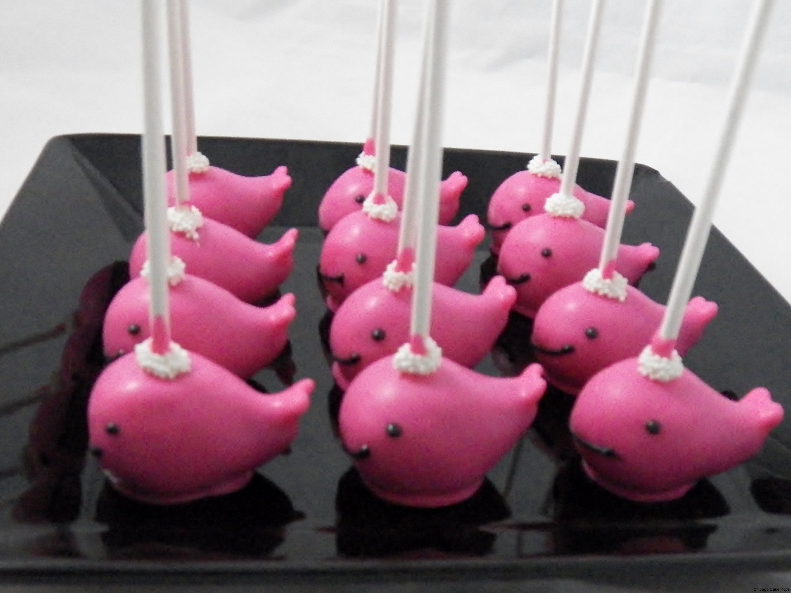 PinkWhale cake pops