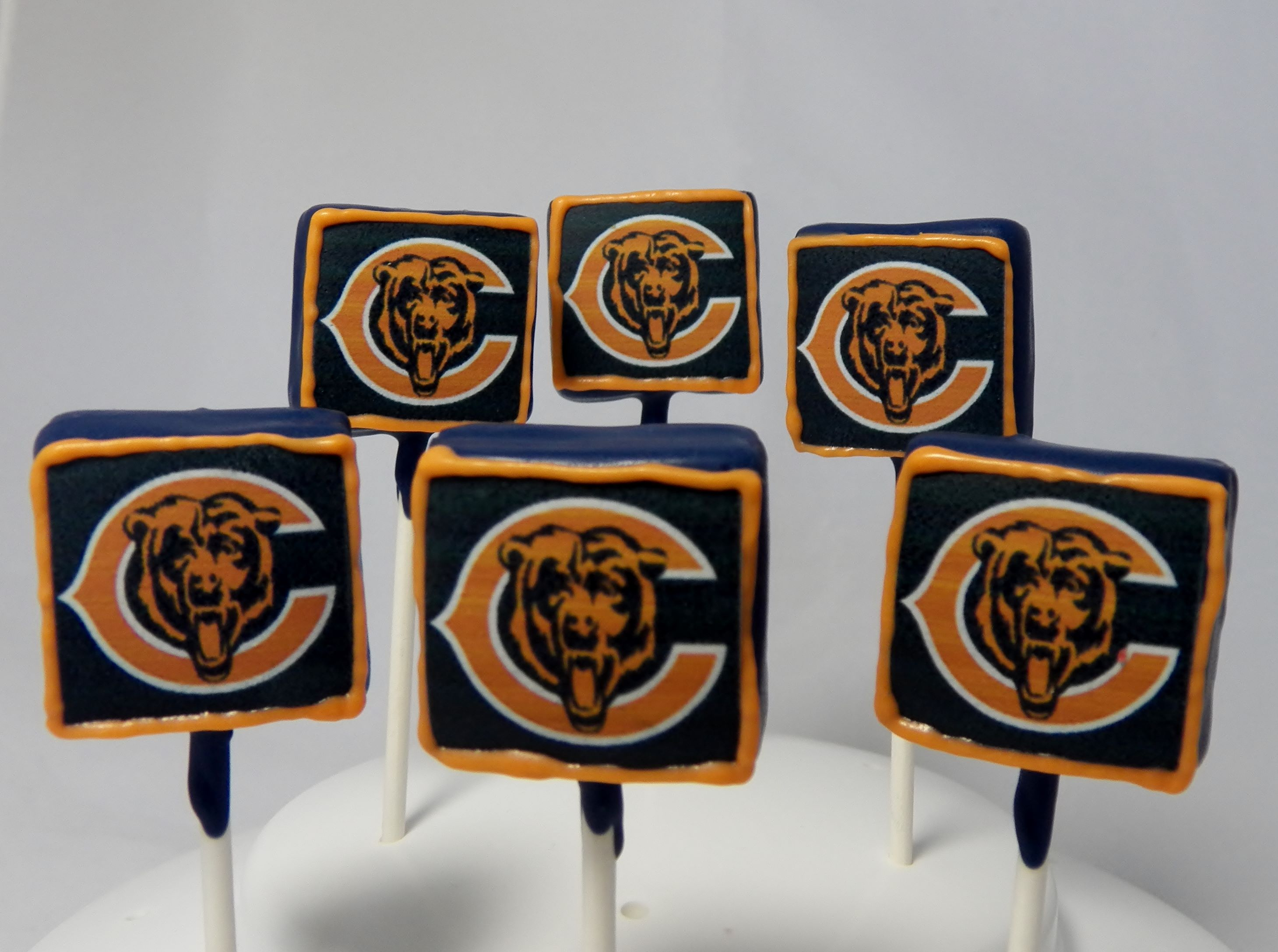 Chicago Bears Cake Pops
