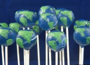 Globe, Earth Day cake pops