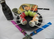 Rainbow sushi roll Cake Pops