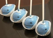 Whale themed babyshower Cake pops