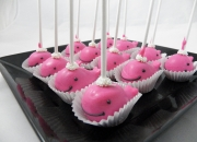 Pink Whale cake pops